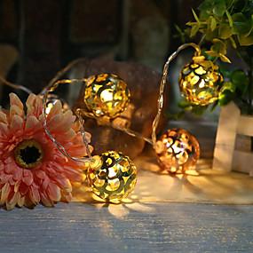 preiswerte Dekorative Beleuchtung-1.5 Leuchtgirlanden 10 LEDs Warmes Weiß / RGB / Weiß Kreativ / Party / Dekorativ AA-Batterien angetrieben 1 set