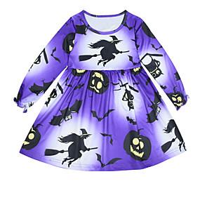 preiswerte Baby & Kinder-Baby Mädchen Geometrisch Kleid Purpur