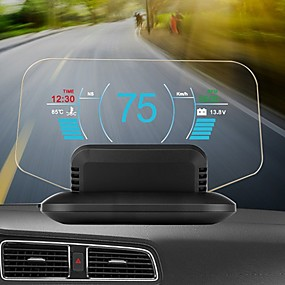 cheap Head Up Display-C1 HD Color LCD Display Car HUD Head Up Display OBD2  GPS Head Display