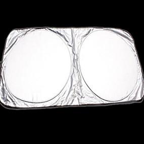 levne Přehozy na auta-velkoformátové auto sluneční clona postříbřená dvojitá smyčka ultra silný automobilový sluneční clona