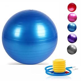 preiswerte Yoga & Pilates Ausstattung-95cm Gymnastikball / Yoga-Ball Professionell, Explosionsgeschützte, Weich PVC Unterstützung 500 kg Mit Fußpumpe Gleichgewichtstraining Zum Yoga / Pilates / Fitness