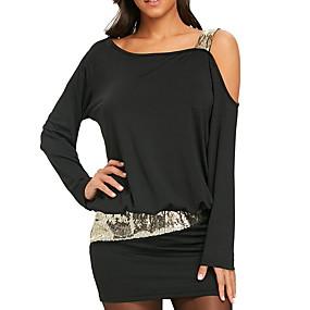 preiswerte Damen Kleider-Damen Grundlegend Hülle Kleid Solide Mini
