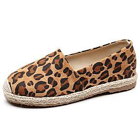 voordelige Damesschoenen met platte hak-Dames Platte schoenen Platte hak Ronde Teen Netstof Zomer Bruin / Grijs / Koffie / Luipaard