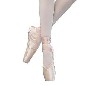 ราคาถูก Dance Shoes-สำหรับผู้หญิง รองเท้าเต้นรำ ซาติน บัลเล่ต์ ส้น ส้นแบน ตัดเฉพาะได้ Nude
