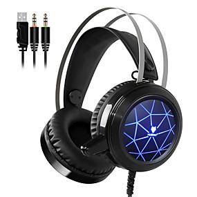 levne Hraní her-nubwo n1 herní sluchátka hluboká baskytara herní sluchátka sluchátka s mikrofonem hlasové ovládání led světlem pro podporu počítače pc