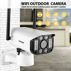 preiswerte Wanscam-Wanscam k25 intelligente drahtlose IP-Kamera 1080p wasserdichter 4-fach digitaler Zoom Zweiwege-Audio-Fernbedienung Außenüberwachung Nachtsicht 320 ptz Umdrehung h.264 Überwachungskamera