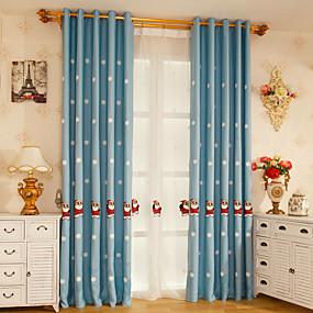 preiswerte Fensterdekoration-gestickter Weihnachtsvorhangzwei Plattenvorhang für das Bettwäscheraumjungen- / Mädchenraumprinzessingeschenk der Kinder