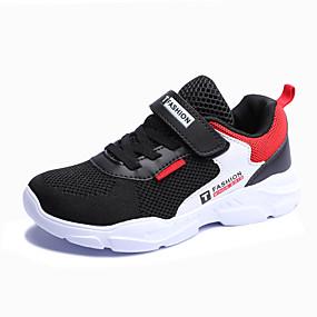 preiswerte Schuhe für Kinder-Jungen Komfort PU / Flyknit Sportschuhe Große Kinder (ab 7 Jahren) Rennen Grau / Rot / Blau Herbst / Slogan