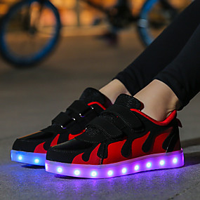 cheap Shoes & Bags-Girls' LED / LED Shoes / USB Charging Synthetics Sneakers LED Shoes Little Kids(4-7ys) / Big Kids(7years +) Walking Shoes LED / Luminous Black / Red / Pink Fall / Winter / Color Block / Rubber