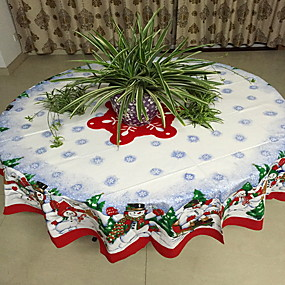povoljno Predbožićna-Ležerne prilike poliester vlakana Krug Stoljnjaci Geometrijski oblici Predbožićna Dekoracije stolova