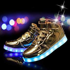 preiswerte Schuhe für Kinder-Jungen Leuchtende LED-Schuhe PU Sneakers Kleine Kinder (4-7 Jahre) / Große Kinder (ab 7 Jahren) Schwarz / Silber / Blau Herbst / Winter