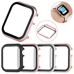 cheap Smartwatch Case-All-inclusive Tempered Glass Film Protective Case For Apple Watch 40mm/44mm/38mm/42mm Metal Shell Frame For Apple Watch Series 4/3/2/1