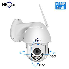 povoljno IP kamere-hiseeu 1080p ptz pan / naginjanje daljinski upravljač ip kamera na otvorenom vodootporna mini brzina dvosmjerna audio detekcija pokreta dome kamera 2mp boja noćno videnje h.264 ip cctv sigurnosna kame