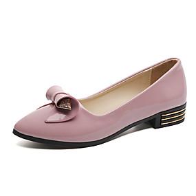 voordelige Damesinstappers & loafers-Dames Loafers & Slip-Ons Blokhak Gepuntte Teen PU minimalisme Lente & Herfst Zwart / Wit / Roze