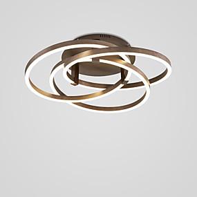 cheap Ceiling Lights & Fans-60 cm CONTRACTED LED® 3-Light Linear Novelty Flush Mount Lights Ambient Light Painted Finishes Metal LED 110-120V 220-240V