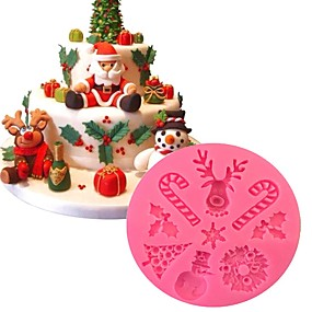 povoljno Predbožićna-božićna tema silikonski kalupi za torte ukras za pečenje ukrašavanjediy čokoladni kalup