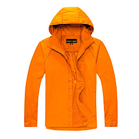 cheap Camping, Hiking & Backpacking-Cikrilan Men's Hiking Jacket Autumn / Fall Winter Summer Outdoor Solid Color Waterproof Windproof Warm Comfortable Top Camping / Hiking / Caving Traveling Winter Sports Dark Grey Black Orange