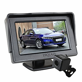 cheap Car Rear View Camera-ZIQIAO 4.3 Inch Foldable Car Monitor TFT LCD Display Cameras Reverse Camera Parking System for Car Rear View Monitors Kit