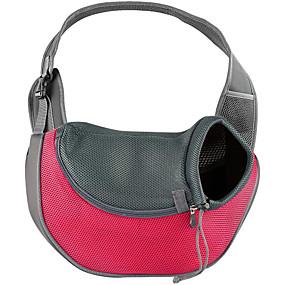 preiswerte Vorräte für Hund-Katze Hund Transportbehälter &Rucksäcke vorne Rucksack Stoff Haustiere Körbe Solide Tragbar Atmungsaktiv Grün Blau Rosa