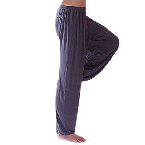 cheap Yoga & Fitness-Men's Women's High Waist Yoga Pants Harem Beam Foot Bloomers Breathable Quick Dry Solid Color Dark Grey White Black Modal Fitness Gym Workout Winter Sports Activewear Stretchy Loose