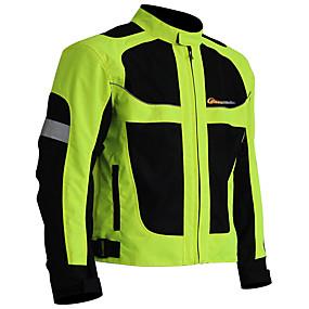 economico Ciclismo & Motociclismo-Per uomo Giacca da ciclismo Inverno Nylon Bicicletta Giacca invernale Abbigliamento per motociclisti Top Tenere al caldo Antivento Asciugatura rapida Gli sport Tinta unica Nero / verde Ciclismo da