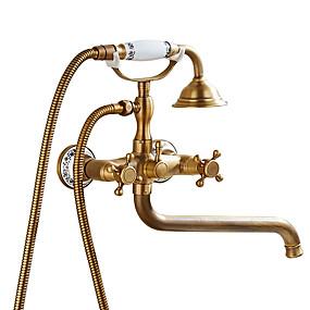 preiswerte Renovierung-Duscharmaturen / Badewannenarmaturen / Waschbecken Wasserhahn - Antike Antikes Kupfer Andere Keramisches Ventil Bath Shower Mixer Taps