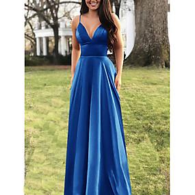 preiswerte Damenbekleidung-Damen Übergrössen Elegant Swing Kleid - mit Riemchen, Solide Maxi Gurt
