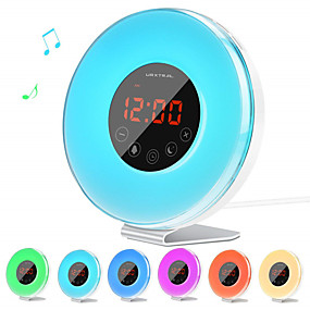 cheap LED Smart Night Lights-Led Touch Clock Light With FM Radio To Simulate Sunrise And Sunset