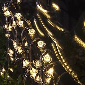 preiswerte Dekorative Beleuchtung-3m Weihnachtsglocken-Schnur beleuchtet 20 LED warmes Weiß / rgb / Weiß / Weihnachtsnachtlicht / Partei / dekorativ / usb trieb 1 Satz an