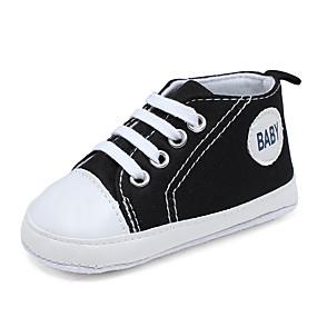 ราคาถูก พรีเซลล์-เด็กผู้ชาย / เด็กผู้หญิง สำหรับการเดินครั้งแรก ผ้าใบ รองเท้าผ้าใบ ทารก (0-9m) วสำหรับเดิน สีเขียว / ฟ้า / สีชมพู ฤดูใบไม้ผลิ / ตก / ยาง
