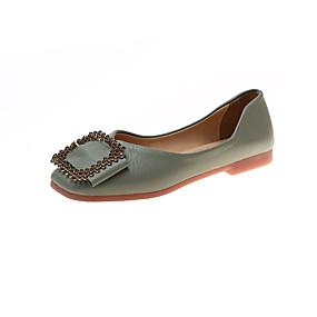 voordelige Damesschoenen met platte hak-Dames Platte schoenen Platte hak Vierkante Teen PU minimalisme Herfst Zwart / Groen / Roze