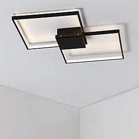 povoljno Lámpatestek-2-svjetlosna geometrijska svjetiljka ugradbena ambijentalna svjetlost obojena je aluminijskim mat, višeslojna, uključena žarulja 110-120v / 220-240v topla bijela / zatamnjena daljinskim upravljačem