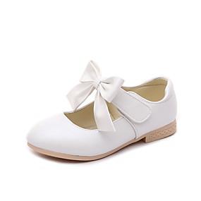 preiswerte Schuhe für Kinder-Mädchen Komfort / Schuhe für das Blumenmädchen PU Flache Schuhe Kleine Kinder (4-7 Jahre) / Große Kinder (ab 7 Jahren) Schleife Gold / Weiß / Rosa Frühling / Herbst / Party & Festivität / TR