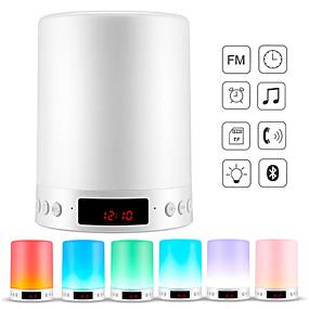 preiswerte Home & Garden-1pc Musik Wecker LED-Nachtlicht / Smart Nachtlicht / Baby & Kids Nachtlichter Mehrfarbig USB Bluetooth / Farbwechsel / Dekoration 5 V