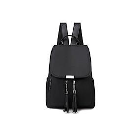 ราคาถูก Bags-Large Capacity ผ้าออกซ์ฟอร์ด ซิป กระเป๋าเป้สะพายหลัง สีทึบ ทุกวัน สีดำ