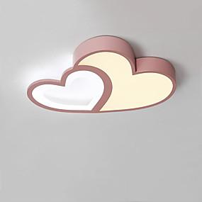 cheap Dimmable Ceiling Lights-50 cm LED® 2-Light Novelty Flush Mount Lights Downlight Painted Finishes Aluminum Dimmable, LED 110-120V / 220-240V Warm White+White