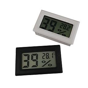 billige Elektrisk utstyr og verktøy-mini digital LCD innendørs praktisk temperatursensor fuktighetsmåler termometer hygrometer måler
