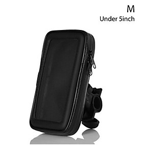cheap Motorcycle Luggage & Bags-Bike Bicycle Motorcycle Mobile Phone Holder For Motor Stand Waterproof Case Bag Cover Handlebar Mount Holder For iphone X Huawei