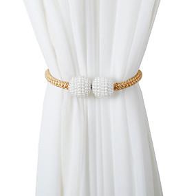 abordables Cortinas-cortina magnética tiebacks cinturones colgantes cuerdas cortina retenedor hebillas clips de cierre accesorios para cortinas decoración de gancho