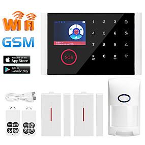 preiswerte Einbruchmeldeanlagen-Multi-Netzwerk-Sprache Wireless-GSM-Alarmanlage Wifi Home Alarm Host Wireless Türklingel Alarmanlage Andere / Home Alarmanlagen / Alarm Host Gsm + Wifi ios / Android-Plattform Gsm + Wifi Lernen