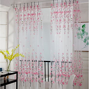 preiswerte Renovierung-Blume Durchsichtig Ein Panel Durchsichtig Mädchen Zimmer   Curtains