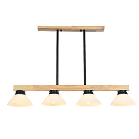 povoljno Lámpatestek-JSGYlights 4-Light Konyhasziget Lusteri Downlight Slikano završi Drvo Wood / Bamboo Glass New Design 110-120V / 220-240V