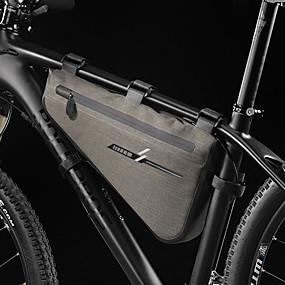 preiswerte Fahrradrahmentaschen-8 L Fahrradrahmentasche Wasserdicht Regendicht Radfahren Fahrradtasche 600D Ripstop 420D Nylon Tasche für das Rad Fahrradtasche Radsport Outdoor Übungen Motorrad