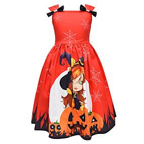 preiswerte Baby & Kinder-Kinder Mädchen nette Art Cartoon Design Kleid Orange