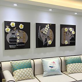 preiswerte Neue im Sortiment-Geramtes Ölgemälde - Stillleben Akryl Ölgemälde Wandkunst
