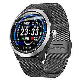 cheap Smart Watches-KING-WEAR N58 Unisex Smartwatch Bluetooth Waterproof Heart Rate Monitor Blood Pressure Measurement Distance Tracking Information ECG+PPG Pedometer Call Reminder Activity Tracker Sleep Tracker