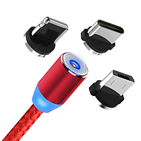 cheap Phone Cables & Chargers-Magnetic USB Cable Fast Charging USB Type C Cable Magnet Charger Data Charge Micro USB Cable Mobile Phone Cable USB Cord