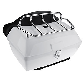cheap Motorcycle Luggage & Bags-48L Motorcycle Scooter Rear Trunk Back Top Tail Box Case Luggage For Harley Universal