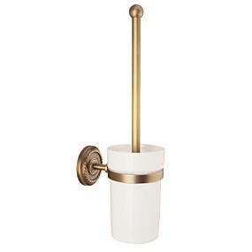 preiswerte Toilettenbürstenhalter-WC-Bürstenhalter Kreativ Antike / Traditionell Messing / Keramik Bad Wandmontage