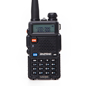 preiswerte BAOFENG-1 stücke baofeng uv-5r funksprechgerät uhf vhf tragbare cb amateurfunkstation amateur polizeiscanner radio intercome hf transceiver uv5r kopfhörer